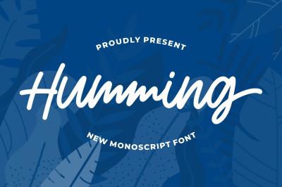 Humming - Monoscript Font