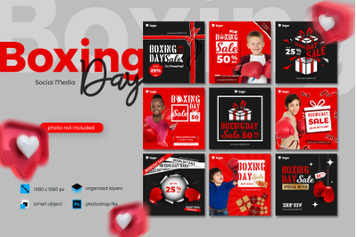 Boxing Day Sale Kids Fashion Social Media Post template