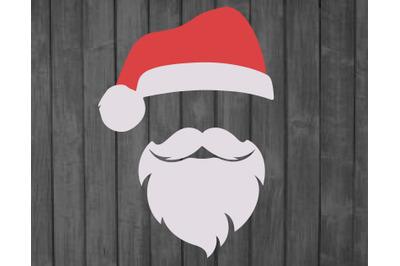 Santa SVG EPS dwg, Digital Download, Santa Hat svg, Santa Hat vector,