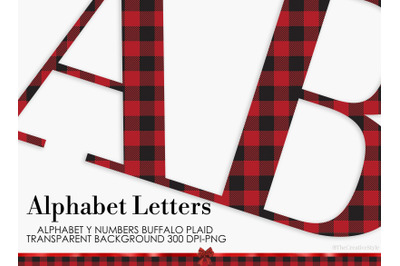 Alphabet Buffalo Plaid