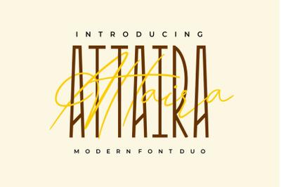 Attaira - Display And Signature Font