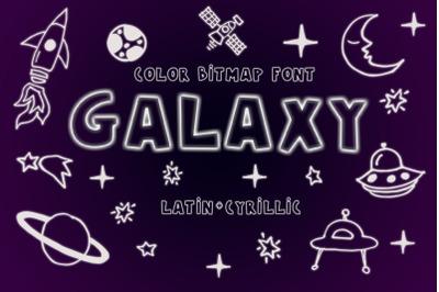 Galaxy Color Bitmap Font