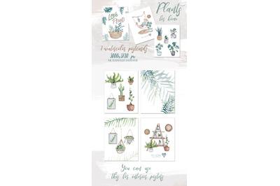 Watercolor PLANTS PRINTABLE