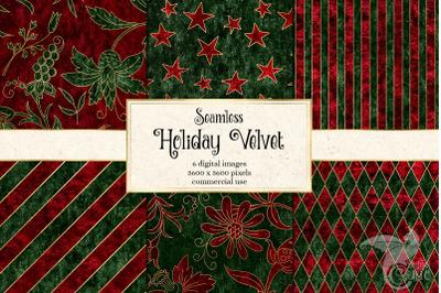 Holiday Velvet Digital Paper