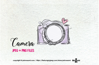 camera clipart - purple