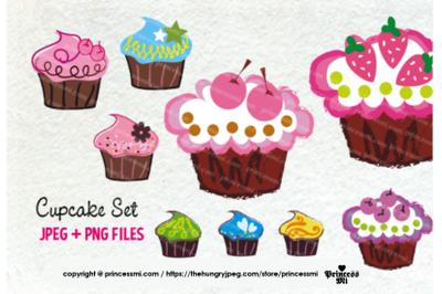 cute cupcake set