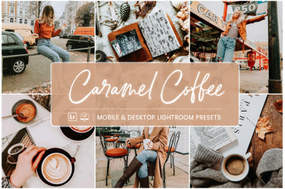 Caramel Coffee -  Mobile & Desktop Lightroom Presets