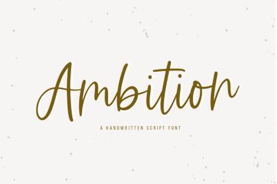 Ambition - Handwritten Script Font