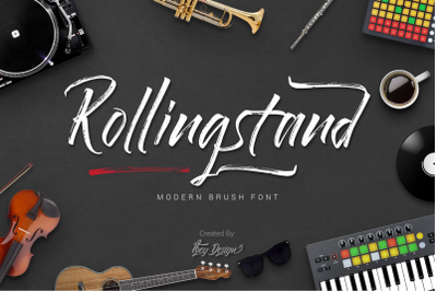 Rollingstand - Modern Brush Font