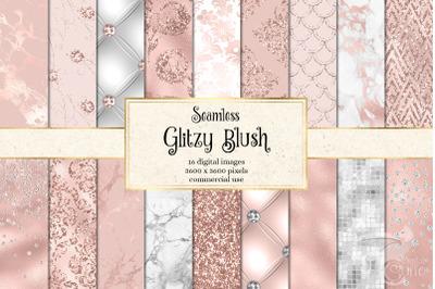 Glitzy Blush Digital Paper
