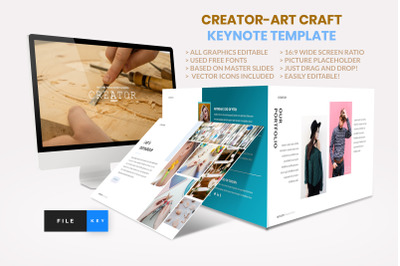 Creator - Art Craft Keynote Template