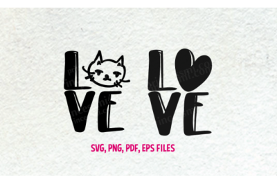 Love cat set / svg, eps, png file