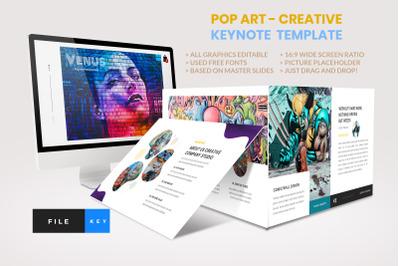 Pop Art - Creative Keynote Template