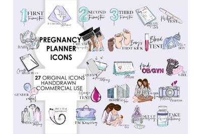 Pregnancy printable stickers icons