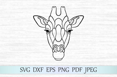 Giraffe svg, Giraffe face svg, Giraffe Cut File, Zentangle giraffe