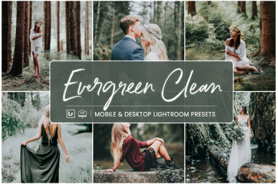 Evergreen Clean - Mobile & Desktop Lightroom Presets