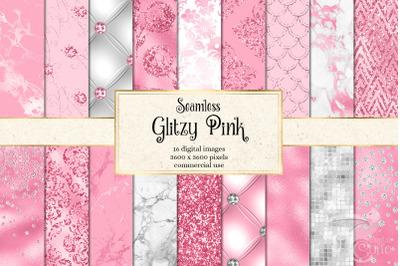 Glitzy Pink Digital Paper