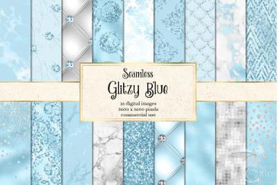 Glitzy Blue Digital Paper