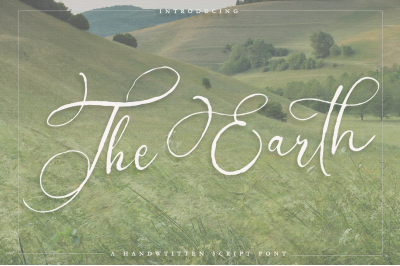The Earth - A handwritten script font