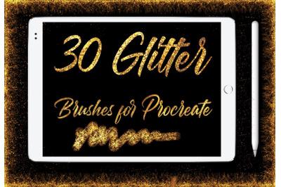 Glitter Brushes for Procreate