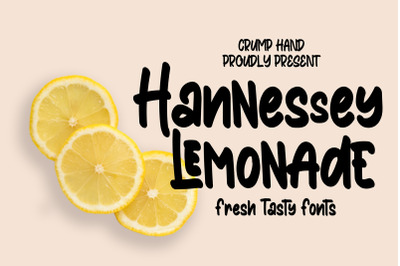 Hannessy Lemonade // Fresh Tasty Fonts