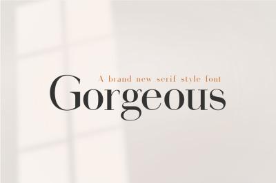 Gorgeous Serif Font