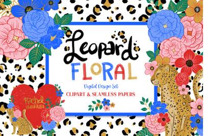Leopard Floral Clipart & Patterns