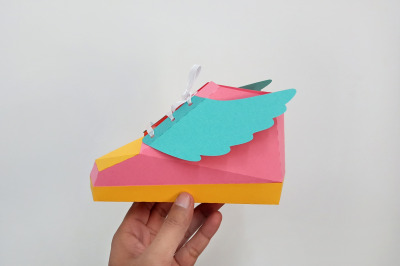 DIY Hip Hop Shoe - 3d papercraft