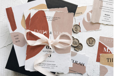 Modern Abstract Wedding Suite