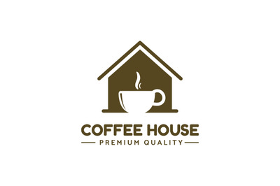 coffee house logo template vector for premium coffee business