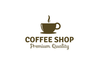 coffee shop logo template vector for premium coffee business