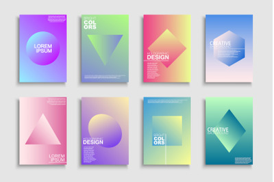Colorful gradient trendy posters