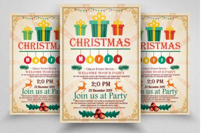 Christmas Greeting Flyer Template