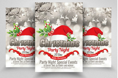 Christmas Party Night Flyer
