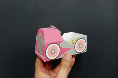 DIY Pedal car favor - 3d papercraft