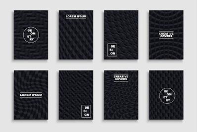 Black creative geometric posters