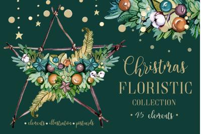 CHRISTMAS FLORISTIC WATERCOLOR
