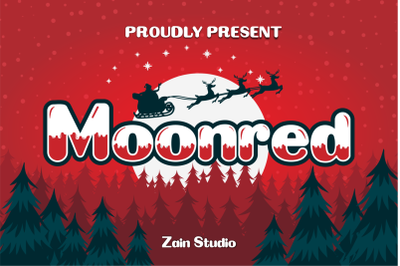 Moonred Display Font