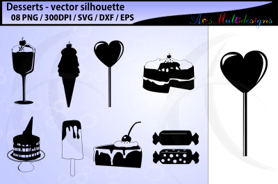 desserts vector svg silhouette