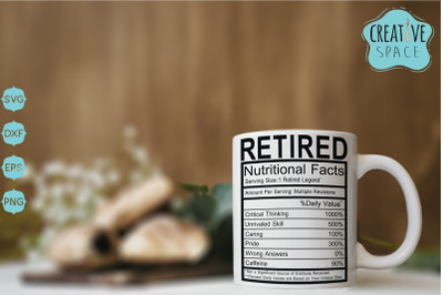 Retired Nutritional Facts SVG