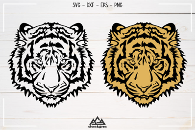 Tiger Head Svg Design