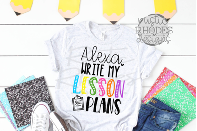 Write My Lesson Plan SVG / PNG Digital Cut File