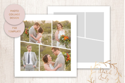 PSD Photo Collage Template #5