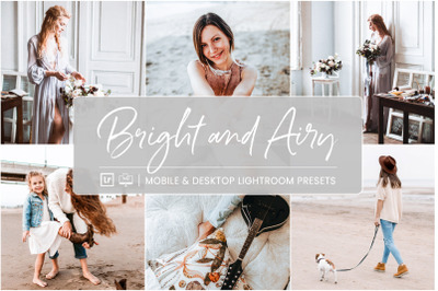 Bright and Airy -  Mobile & Desktop Lightroom Presets