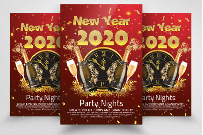 Happy New Year Party Night Flyer