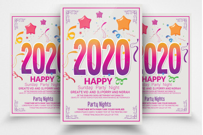 New Year Party Night Flyer Template