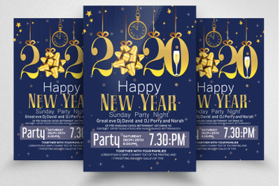 Happy New Party Night Year Flyer