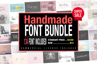 BIG Font Bundle 134in1 SALE!!!!!!!!