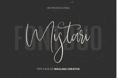 Mistari Typeface - Script And Sans