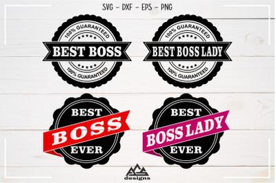 Best Boss Boss Lady Stamp Svg Design